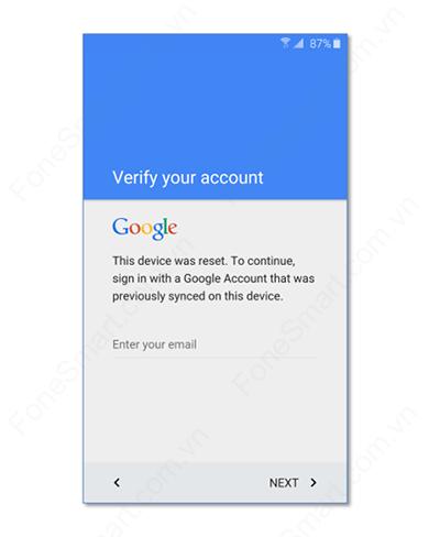 Xóa xác minh tài khoản Google Samsung A70